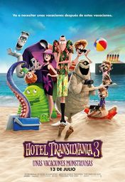 Cartel oficial en español de: Hotel Transilvania 3: Unas vacaciones monstruosas