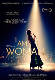 Cartel oficial en español de: I Am Woman