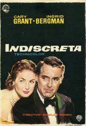 Cartel oficial en español de: Indiscreta