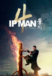 Cartel oficial en español de: Ip Man 4: El final