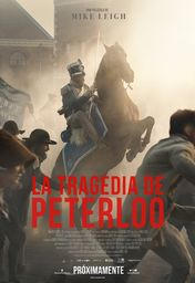 Cartel oficial en español de: La tragedia de Peterloo