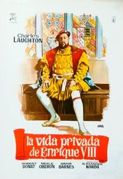 Cartel oficial en español de: La vida privada de Enrique VIII