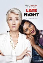 Cartel oficial en español de: Late Night