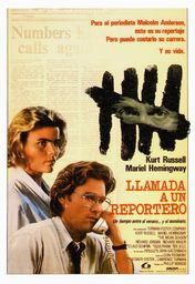 Cartel oficial en español de: Llamada a un reportero