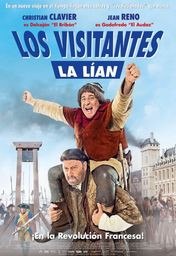 Cartel oficial en español de: Los visitantes la lían (en la Revolución Francesa)
