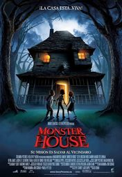 Cartel oficial en español de: Monster House