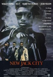 Cartel oficial en español de: New Jack City