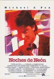 Cartel oficial en español de: Noches de neón