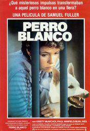 Cartel oficial en español de: Perro blanco