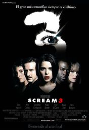 Cartel oficial en español de: Scream 3