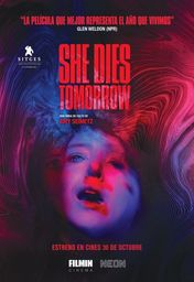 Cartel oficial en español de: She Dies Tomorrow