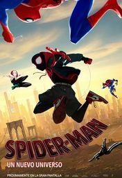 Cartel oficial en español de: Spider-Man: Un nuevo universo