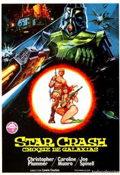 Cartel oficial en español de: Star Crash, choque de galaxias