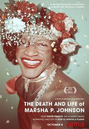 Cartel oficial en español de: The Death and Life of Marsha P. Johnson