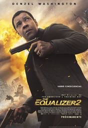 Cartel oficial en español de: The Equalizer 2