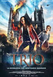 Cartel oficial en español de: Trío. La búsqueda del Santuario Sagrado