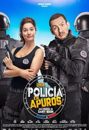 Cartel oficial en español de: Una policía en apuros