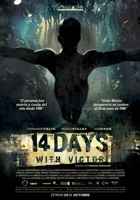 Cartel oficial en español de: 14 days with Victor