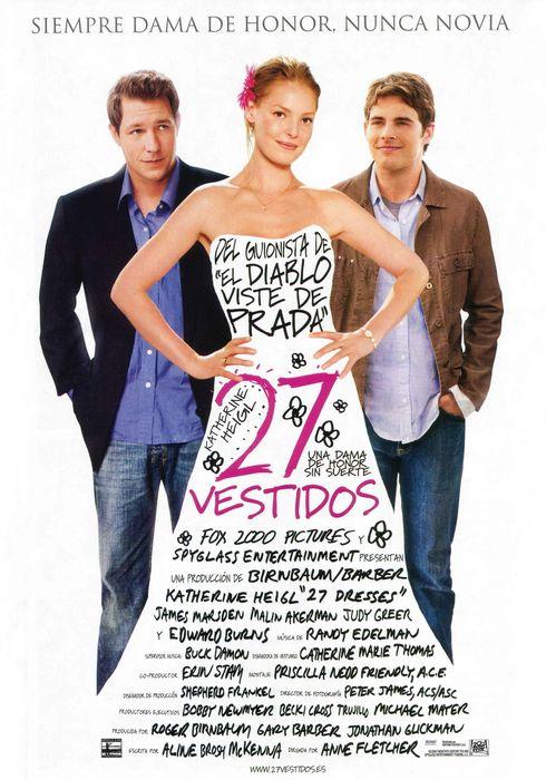 Cartel oficial en español de: 27 vestidos