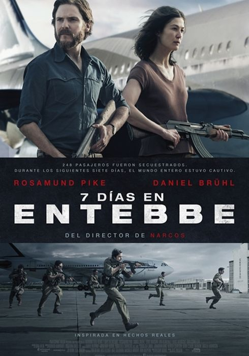 Cartel oficial en español de: 7 días en Entebbe