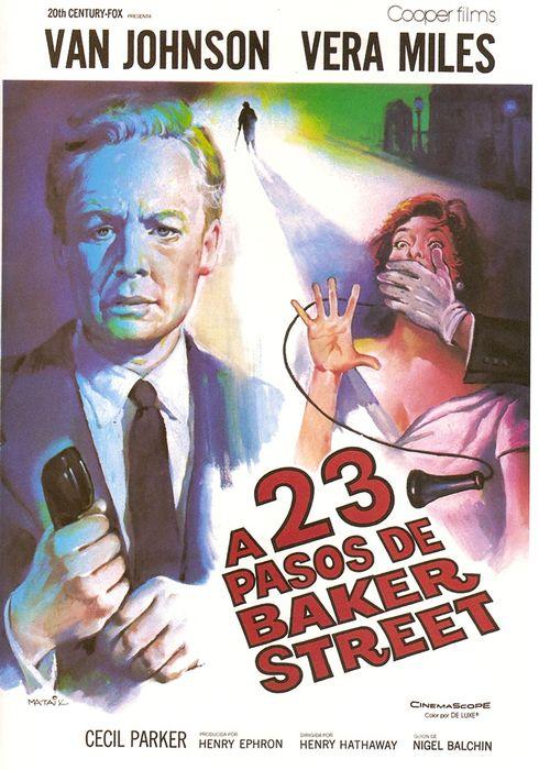 Cartel oficial en español de: A 23 pasos de Baker Street