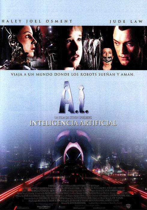 Cartel oficial en español de: A.I. Inteligencia artificial