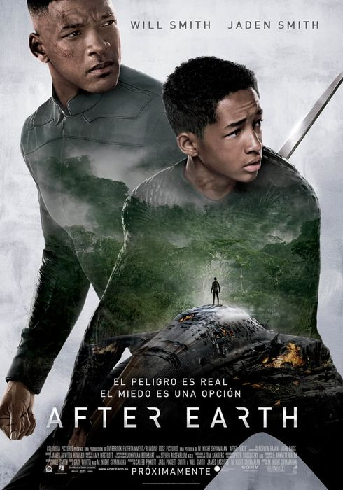 Cartel oficial en español de: After Earth