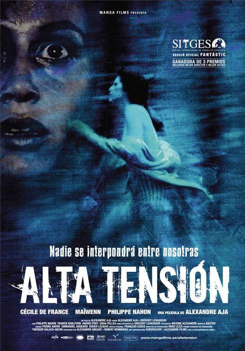 Cartel oficial en español de: Alta tensión (2003)