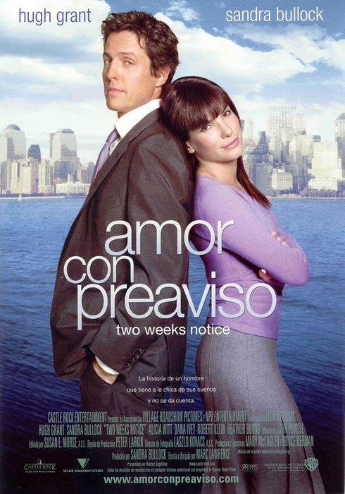 Cartel oficial en español de: Amor con preaviso
