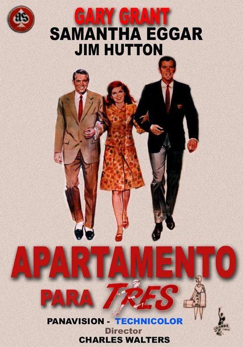 Cartel oficial en español de: Apartamento para tres