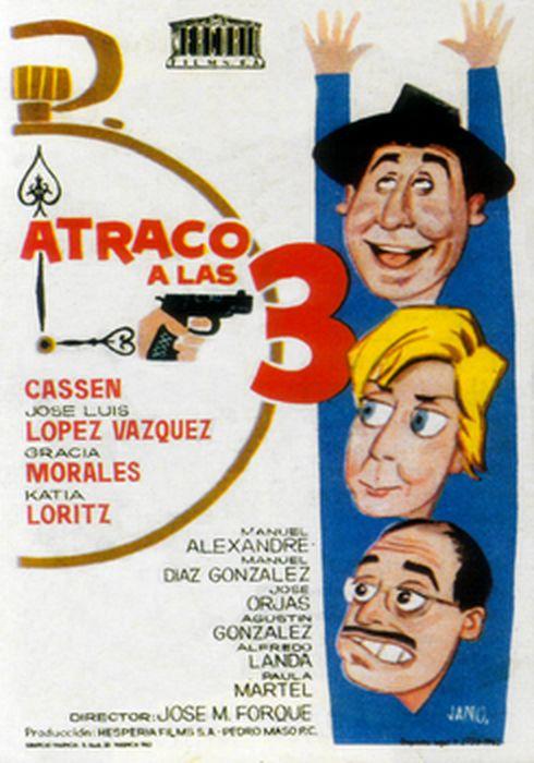 Cartel oficial en español de: Atraco a las tres