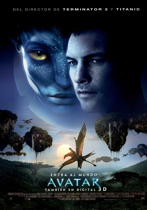 Cartel oficial en español de: Avatar