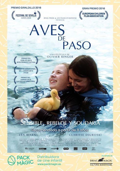 Cartel oficial en español de: Aves de paso