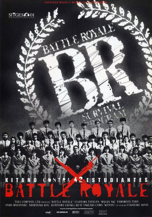 Cartel oficial en español de: Battle Royale
