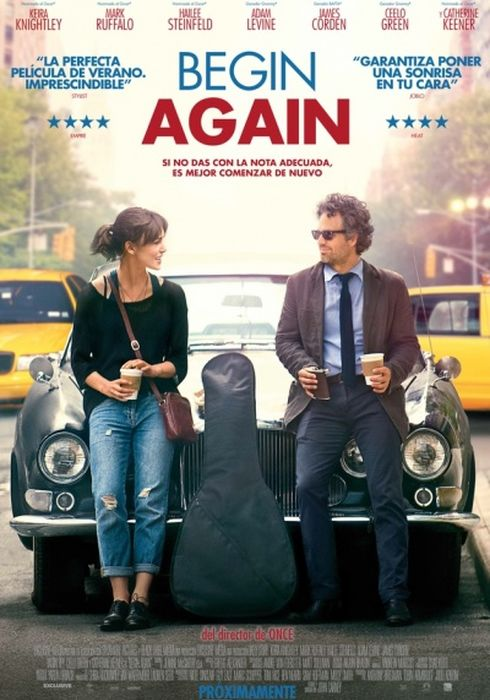 Cartel oficial en español de: Begin Again