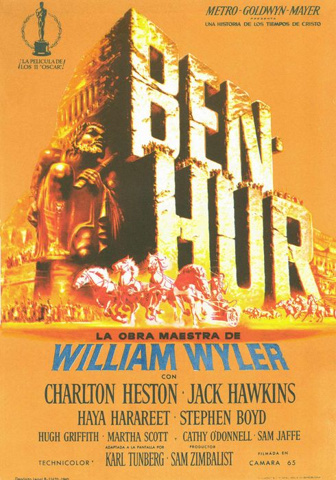 Cartel oficial en español de: Ben-Hur