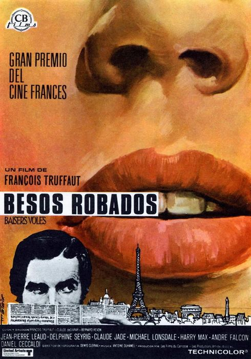 Cartel oficial en español de: Besos robados