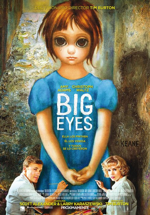 Cartel oficial en español de: Big Eyes
