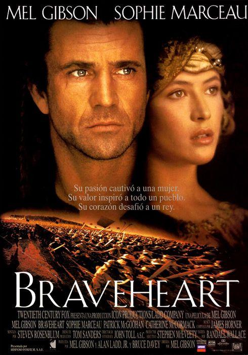 Cartel oficial en español de: Braveheart