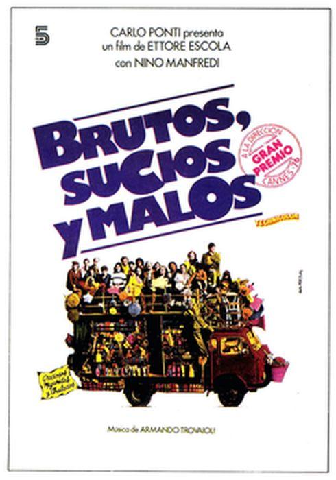Cartel oficial en español de: Brutos, sucios y malos