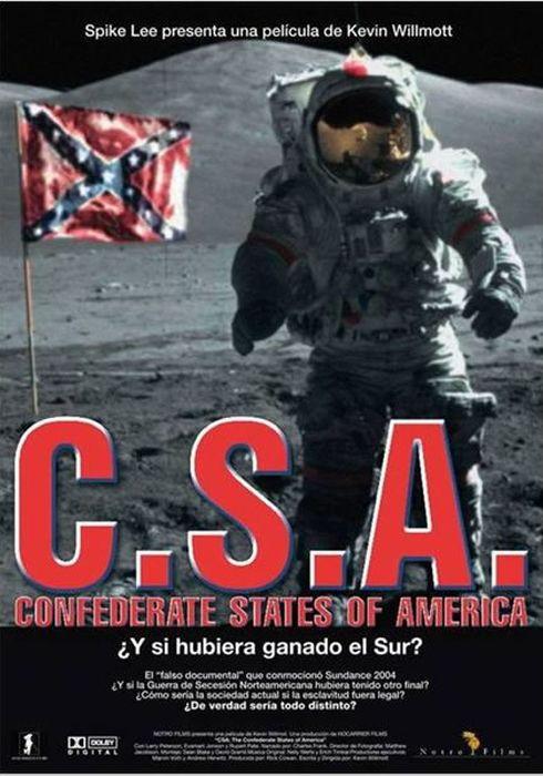 Cartel oficial en español de: CSA: The Confederate States of America