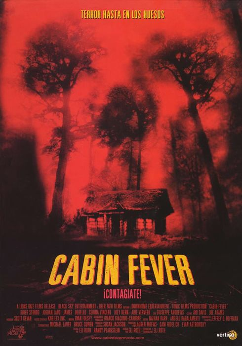 Cartel oficial en español de: Cabin fever