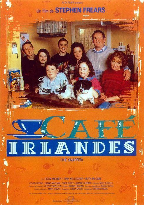 Cartel oficial en español de: Café irlandés