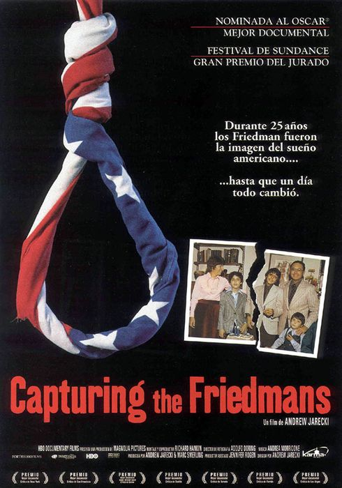 Cartel oficial en español de: Capturing the Friedmans