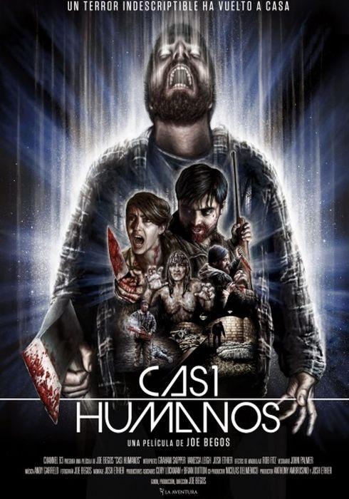 Cartel oficial en español de: Casi humanos