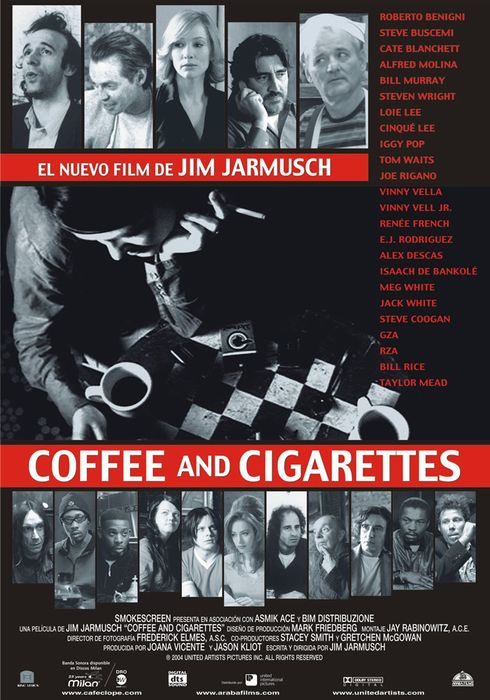 Cartel oficial en español de: Coffee and Cigarettes