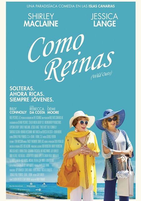 Cartel oficial en español de: Como reinas