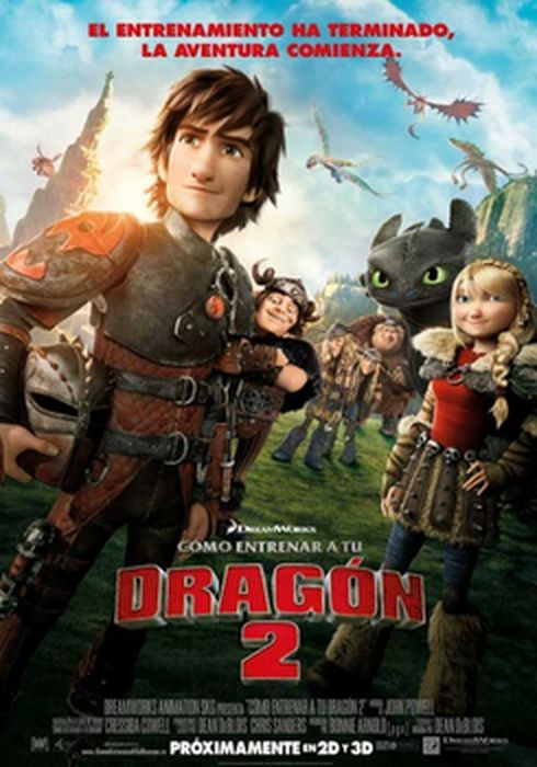 Cartel oficial en español de: Cómo entrenar a tu dragón 2