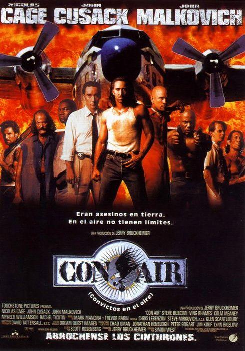 Cartel oficial en español de: Con Air (Convictos en el aire)