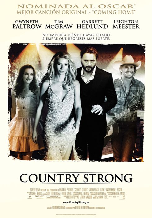 Cartel oficial en español de: Country Strong